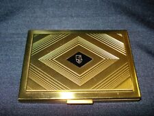 New listing Max Factor Hollywood Compact Rouge/Blush Carmine Gold Metal Mirror Diamond Face