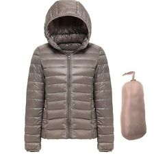 Women's Hooded Packable Ultra Light Weight Short Down Jacket The North Coat UPS