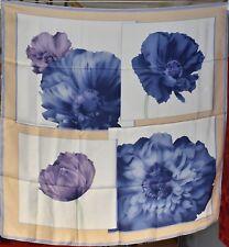 Foulard carré de soie LANCEL 88 cm x 87 cm motif floral