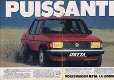 PUBLICITE ADVERTISING 095 1981 Volkswagen la Jetta la lionne  (2 pages)
