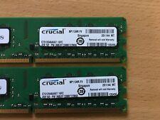 8GB (2x4) RAM Arbeitsspeicher Crucial DDR2 UNB 240-pin CT51264AA667