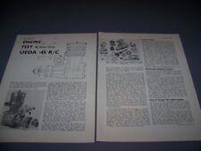 VINTAGE..UEDA 45 7.6 CC R/C ENGINE..1-VIEWS/GRAPHS/SPECS..RARE! (657P)