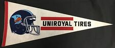 Toronto Argos CFL Football Pennant Rare Uniroyal Tires Adveritsement Variation