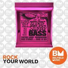 Ernie Ball 2854 Bass Guitar Strings Short Scale Super Slinky 40-100 .040-.100