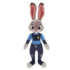 "DISNEY STORE ZOOTOPIA OFFICER JUDY HOPPS SMALL PLUSH 15"" H NEW MOVIE PLUSH NWT"
