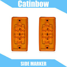 2x Amber 6 LED Cab Running Roof Clearance Marker Light Assembly for Freightliner