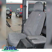 LAND ROVER DEFENDER PAIR OF WATERPROOF FRONT SEAT COVERS. PART - DA2818GREY