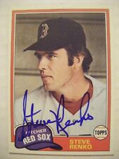 STEVE RENKO signed RED SOX 1981 Topps baseball card AUTO KANSAS LAWRENCE KS CUBS