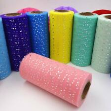 25 Yards Shinny Glitter Sequin Tulle  DIY Wedding Bridal Bouquet Party Decor
