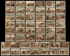 old chromos complete series AIGUEBELLE***FRANCO-PRUSSIAN WAR 1870 and COLONIAL