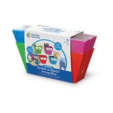 Learning Resources Create-A-Space Magnetic Storage Bins NEW
