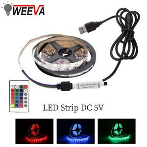 USB LED Strip Mini 3key DC 5V Flexible Light 60LED SMD 2835 Desktop Decor Screen