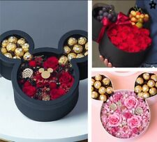 Luxury Mickey Mouse shaped flower gift packaging box with lid, chocolate gift
