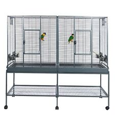 Double flight cage for Budgies, Finches and Small Parrots Rainforest Cages