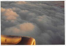 Found PHOTO Aerial Shot Partial View Airplane w/ Cloudy Sky