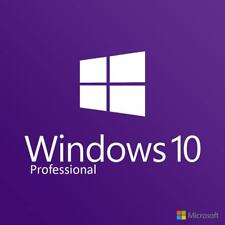 Microsoft Windows 10 Pro Professional 1 License Key PC Online & 64bit DVD UK