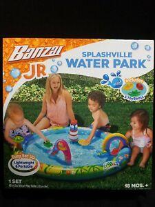 Banzai jr. Splashville Water Park Outdoor Toy - New - 18 Months +