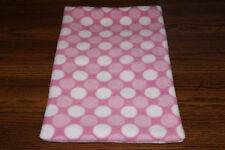 New listing New Pink Polka Dot Fleece Dog Cat Pet Carrier Crate Blanket Free Shipp! Help Bcr