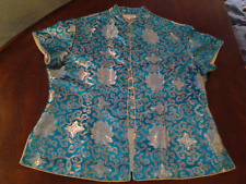 Kimi Design Beautiful 100% Silk Asian Style Blouse Excellent Condition RARE Cute