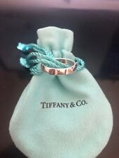 Tiffany & Co Band Ring Sterling Silver Genuine New Size US 7.5 Paloma's Groove