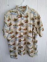 Red Head Men's Cotton Button Front Short Sleeve Fishing Camping Casual Shirt XL