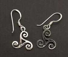 Boucles Oreilles Noeud Celte Triskell en Argent 925 bijoux celtique 6939 M32