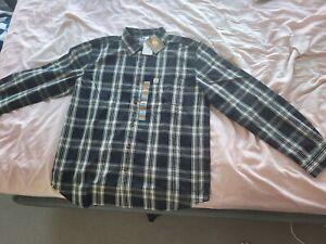 BRAND NEW W/ TAGS - Carhartt Men's Long Sleeve Black Plaid Shirt