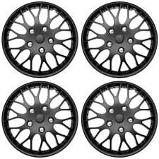 "4 Pc Set of 15"" BLACK MATTE Hub Caps Rim Cover for OEM Steel Wheels Covers Cap"