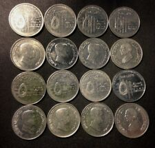 Old JORDAN Coin Lot - 16 Vintage Islamic Coins - Mixed Date - FREE SHIPPING