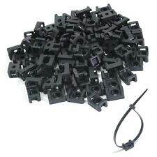 100x CABLE TIE MOUNTS Base for Camper Caravan 4x4 Truck Trailer Ute 15x10mm