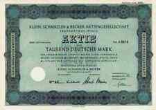 Klein Schanzlin Becker 1951  Frankenthal Pegnitz Nürnberg 1000DM KSB Pumpen AMAG