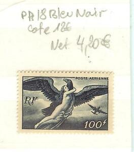 timbres France poste aérienne N°18 BLEU NOIR NEUF SANS CHARNIERES