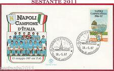 ITALIA FDC FILAGRANO NAPOLI CAMPIONE D'ITALIA 1987 ANNULLO TORINO Y151