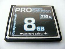 8GB Compact Flash Card ( 8 GB CF Karte ) gebraucht