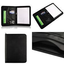 A4 Zipped Folder Conference Leather Portfolio Business HK