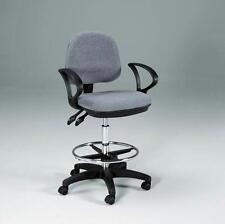 GRAY   ADJUST & TILT Drafting Counter Height Chair Stool   NEW