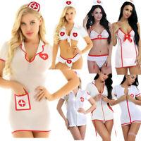 Women's Sexy Lingerie Nurse Doctor Uniform Cosplay Costume Fancy Dress Halloween