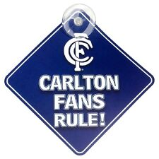 AFL Carlton Blues CAR SIGN - Footy Fans Aussie Rules - Post tracking