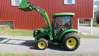 2007 JOHN DEERE 3520 4X4 COMPACT UTILITY TRACTOR W/ CAB & LOADER HYDRO 1200 HRS