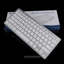 Silver Ultra Slim Wireless Bluetooth Keyboard For iMac iPad Apple Tablet PC