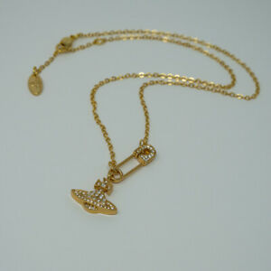 Vivienne Westwood Lucrece  Necklace-Golden with Pouch