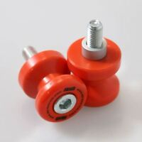 KTM 990 Supermoto 2008 Orange Cotton Reels/Paddock Stand Bobbins by R&G Racing