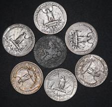 ¼ Dollar Washington / Barber Silver Quarter Lot 7 Coins United States # 114 164
