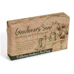 Exfoliating Gardener's Hand Bar Soap Cut & Wrapped Geranium Peppermint Gift 125g