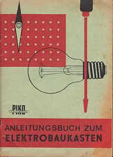 SONNEBERG, Katalog 1979, VEB PIKO Spielwaren Anleitungs-Buch Elektrobaukasten