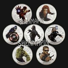 Marvel The Avengers Final Battle | Cartoon Movie | Silver Plated Coin 7 pcs set