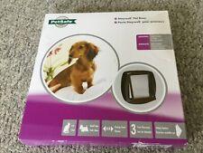 PetSafe Staywell Original Pet Door Small Dog/Cat Flap 2-Way Locking, Brown (J3)