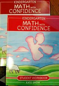 Kindergarten Math with Confidence Set, Teacher and Student workbook