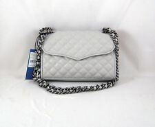 Rebecca Minkoff Mini Quilted Affair in Pale Grey Brushed Gunmetal Hardware NWT