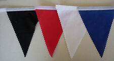 Black Red White & Blue Football Bunting fabric bedroom Decoration 2 mt or more.